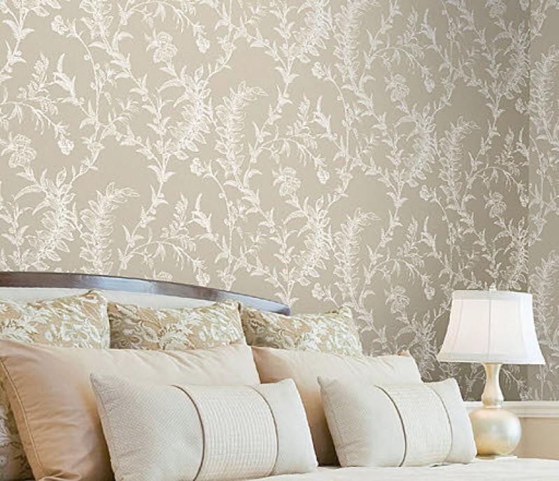 Papel pintado hogar y construccion for Dormitorios empapelados y pintados
